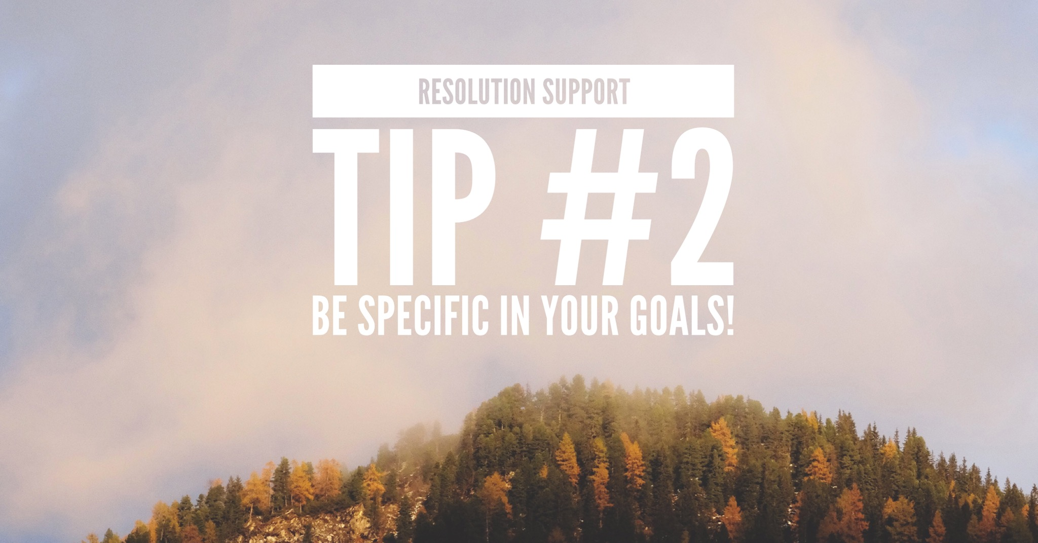 Resolution Support Tip #2: Be specific in your goals!